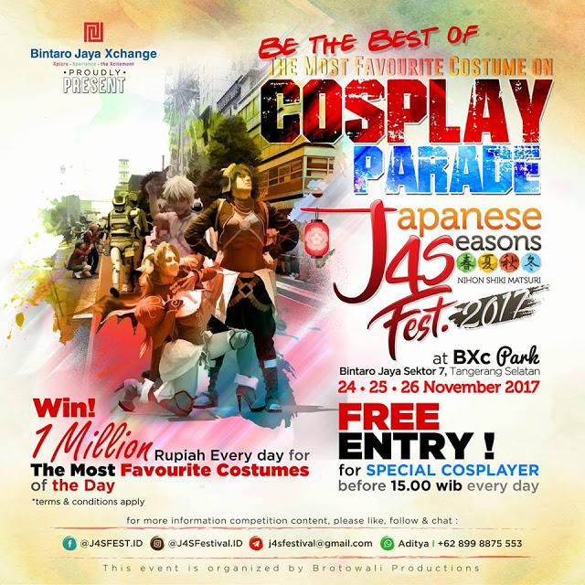 J4S Festival - The Biggest Japanese 4 Seasons Festival in Indonesia ~ Wibunews