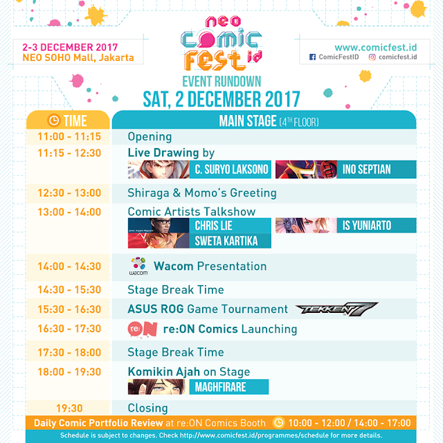 New Update Rundown of Neo Soho ComicFest ID 2017 ~ Wibunews