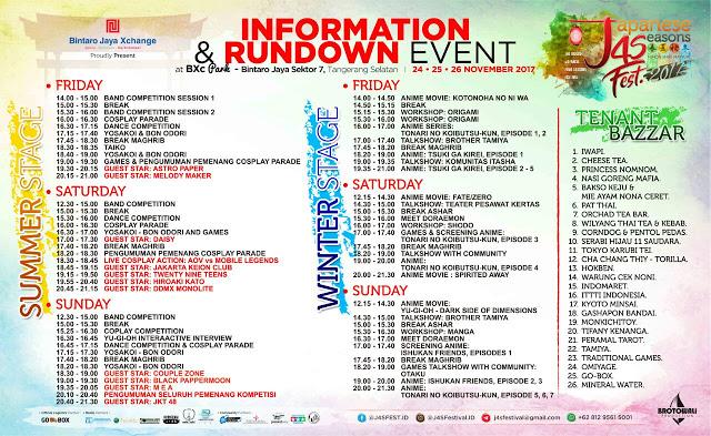 New Update Rundown All Stage J4S Festival ~ Wibunews