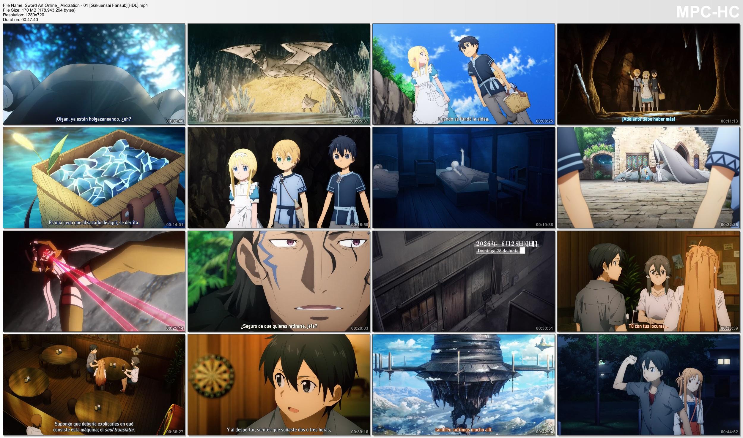 xK885a5ymkNvd - [Aporte] Sword Art Online: Alicization [24/24][85MB][MEGA][Concluido] - Anime Ligero [Descargas]